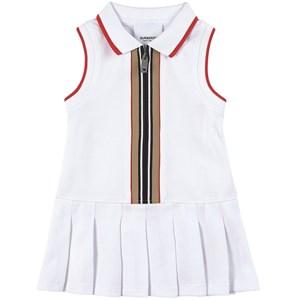 Burberry Icon Stripe Pikéklänning Vit 12 mån