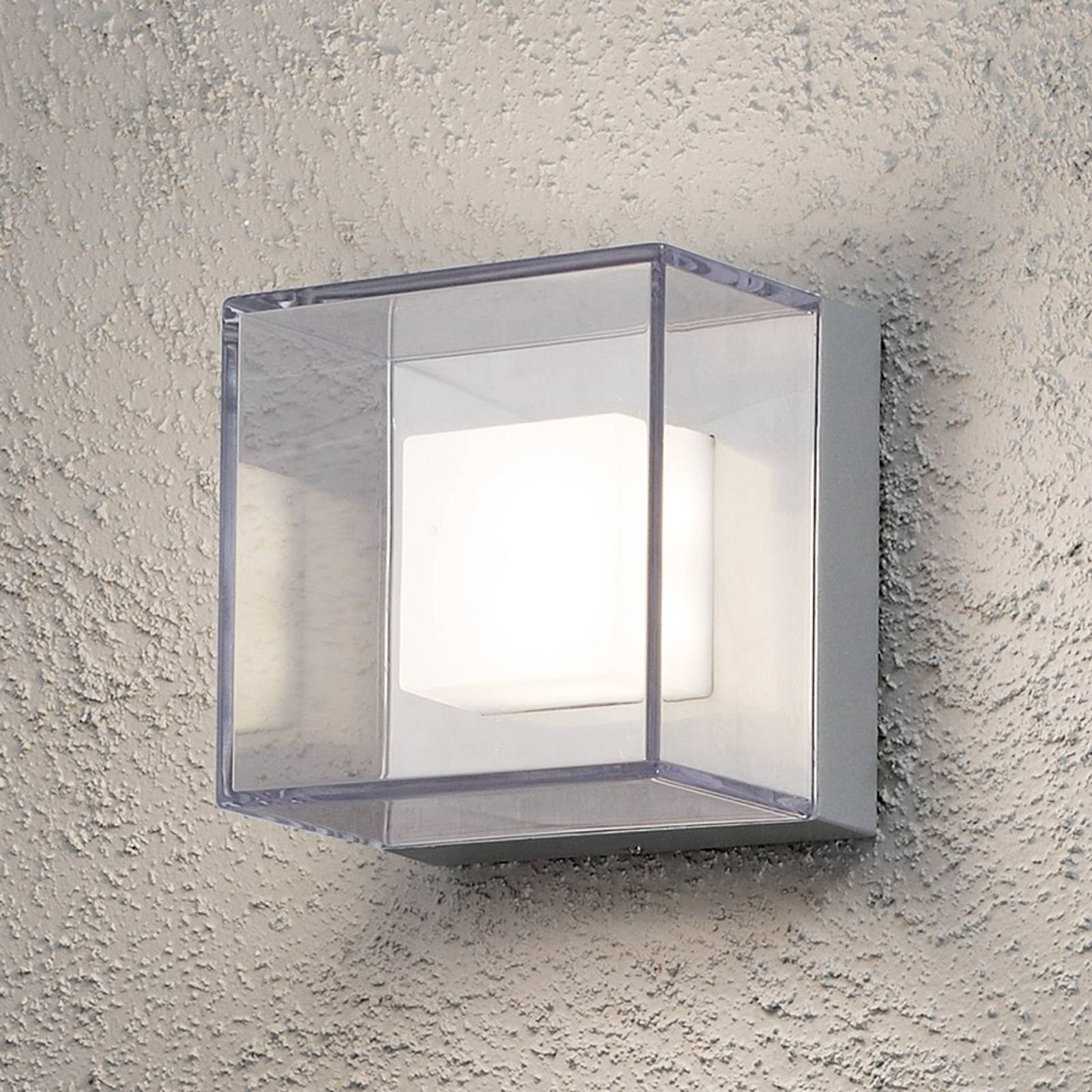 Transparent LED utendørs vegglampe Sanremo - IP54