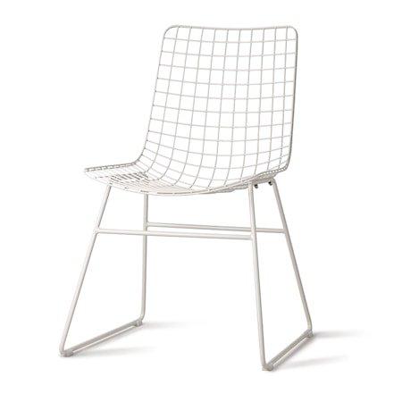 Stol Metall Hvit