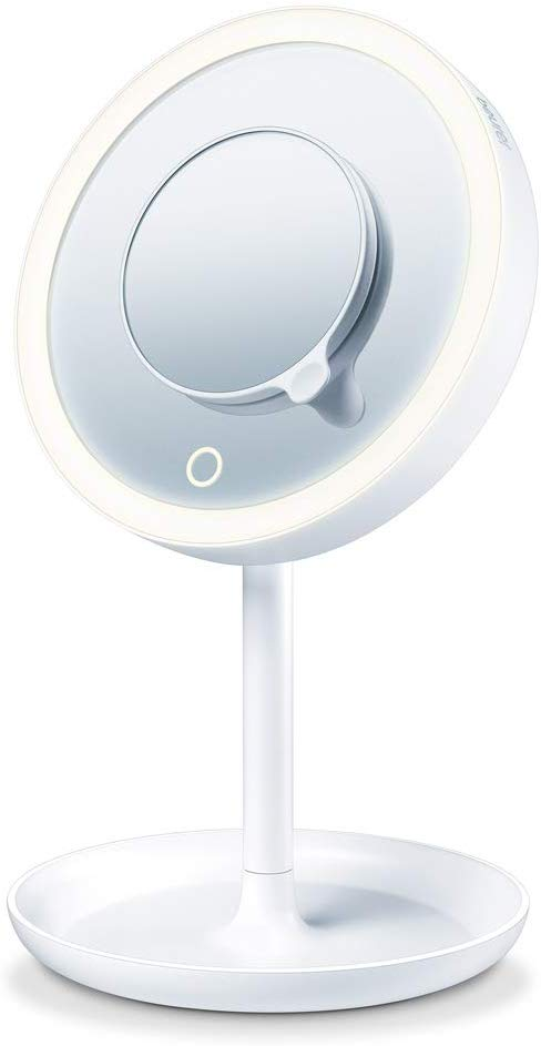 Beurer - BS 45 Illuminated Cosmetic Mirror with LED Light Touch Sensor Button - 3 Years Warranty