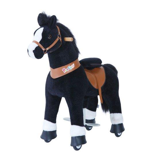PonyCycle Ride-On Hest, Svart/Hvit