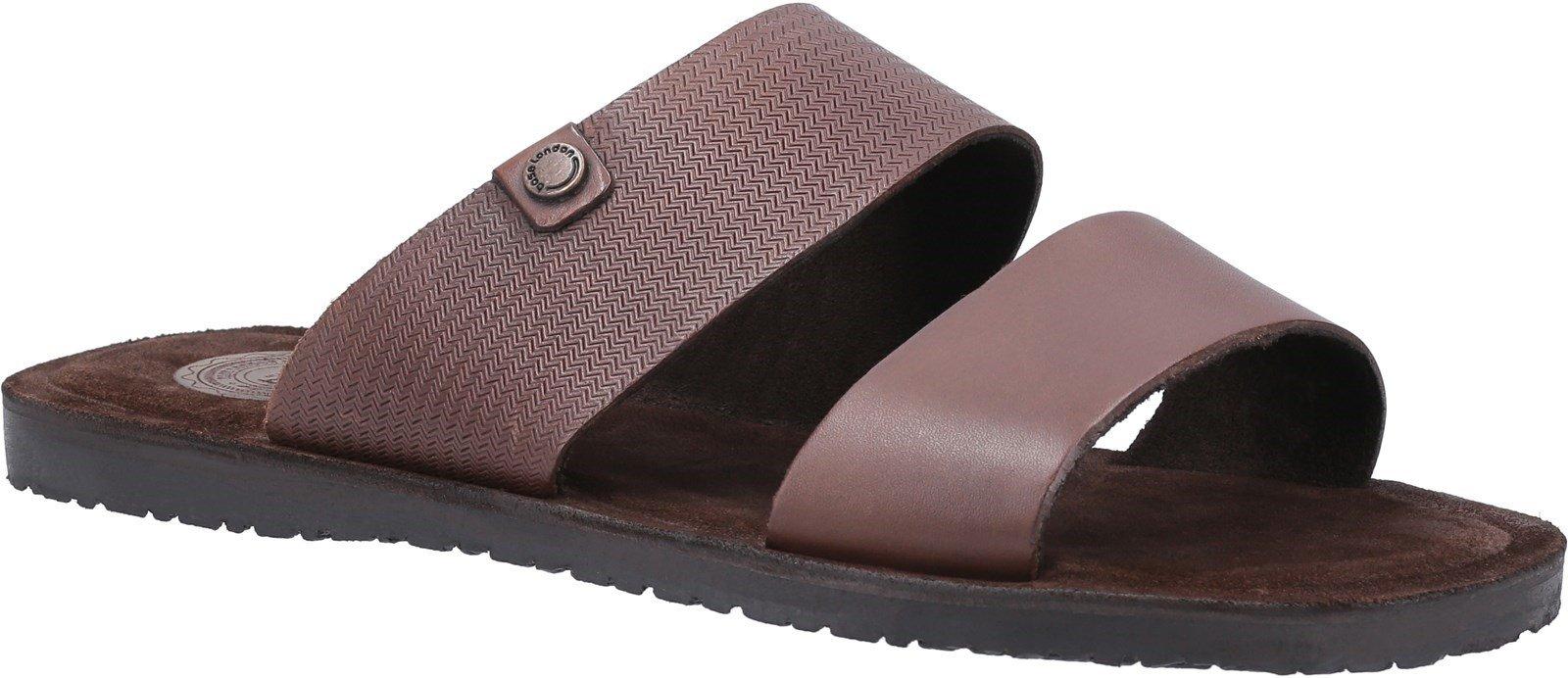 Base London Men's Julius Waxy Slip On Sandal Various Colours 30442 - Brown 6