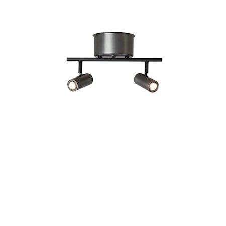 Cato Skinne Oksidert grå 2-spot Dimbar LED 132 cm