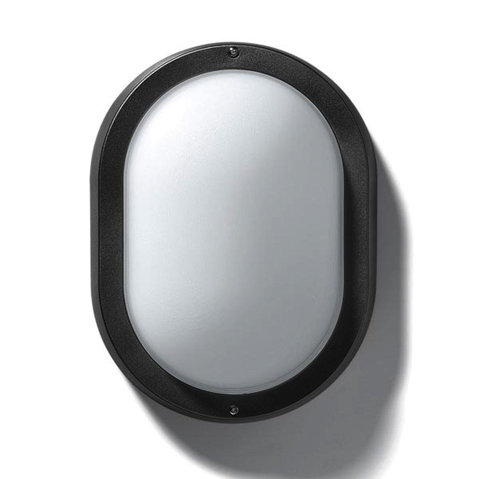 EKO 19 utendørs vegg- eller taklampe i svart