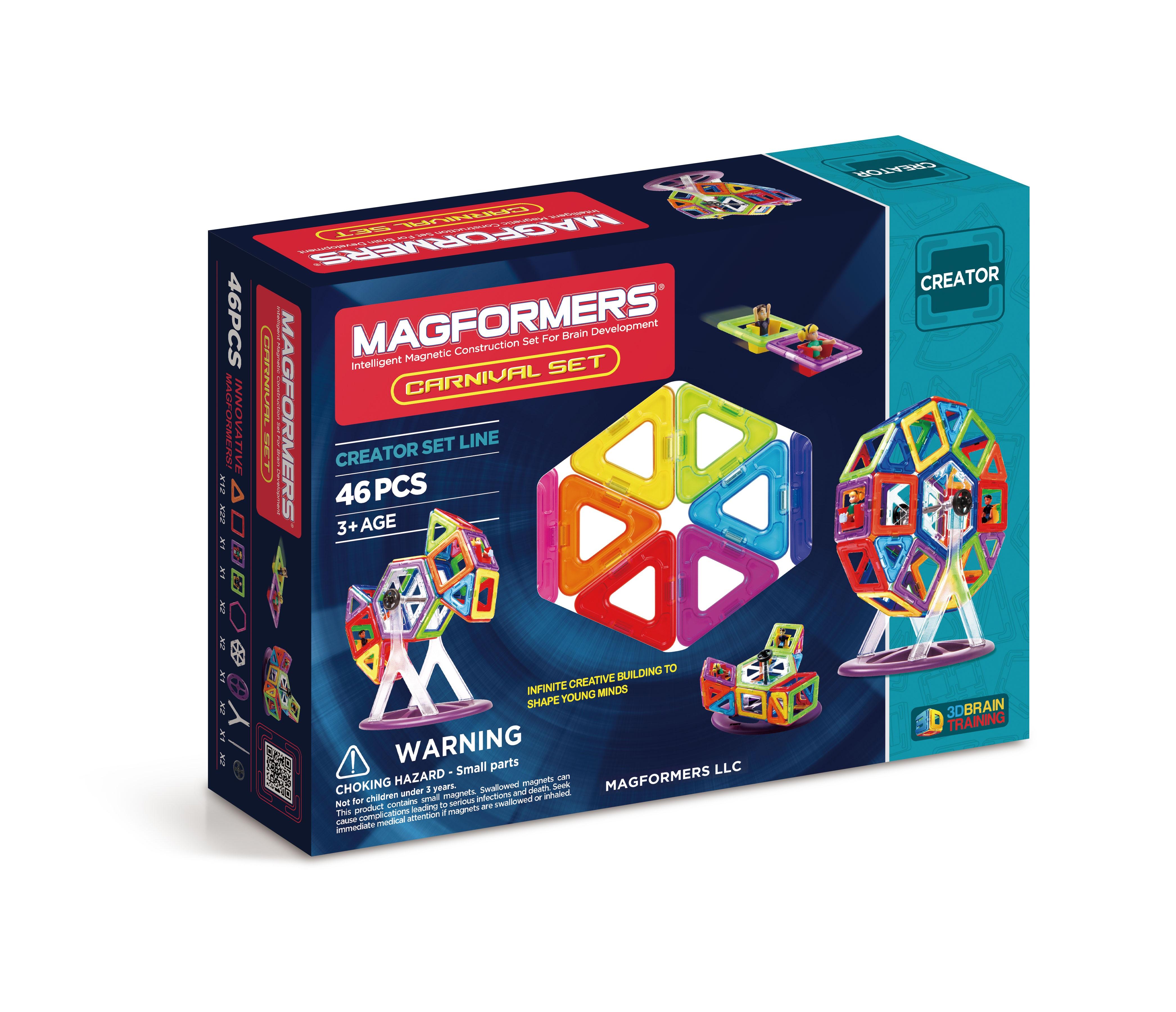 Magformers - Rainbow Carnival Set, 46 pc (3005)