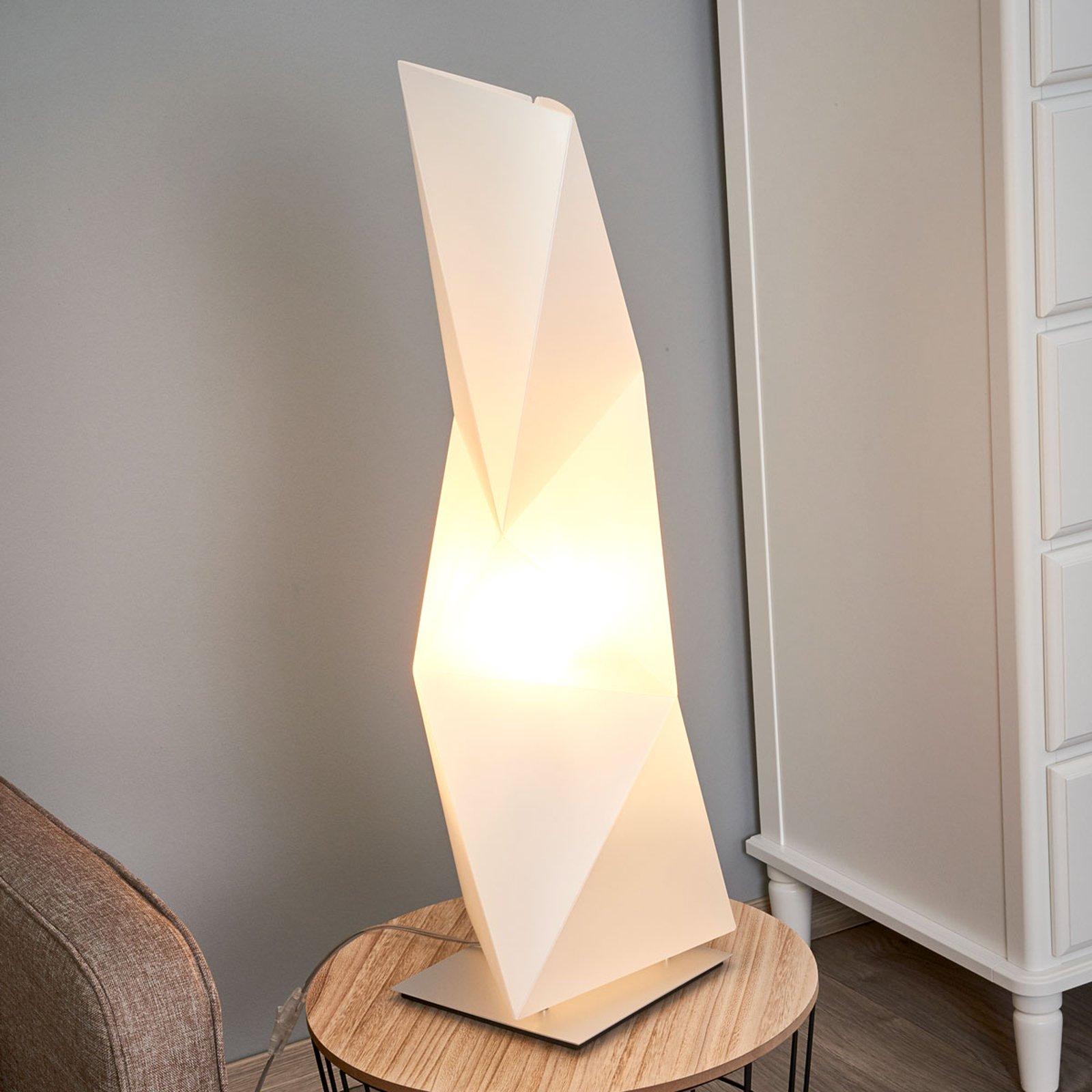 Kantet designer-bordlampe Diamond 72 cm