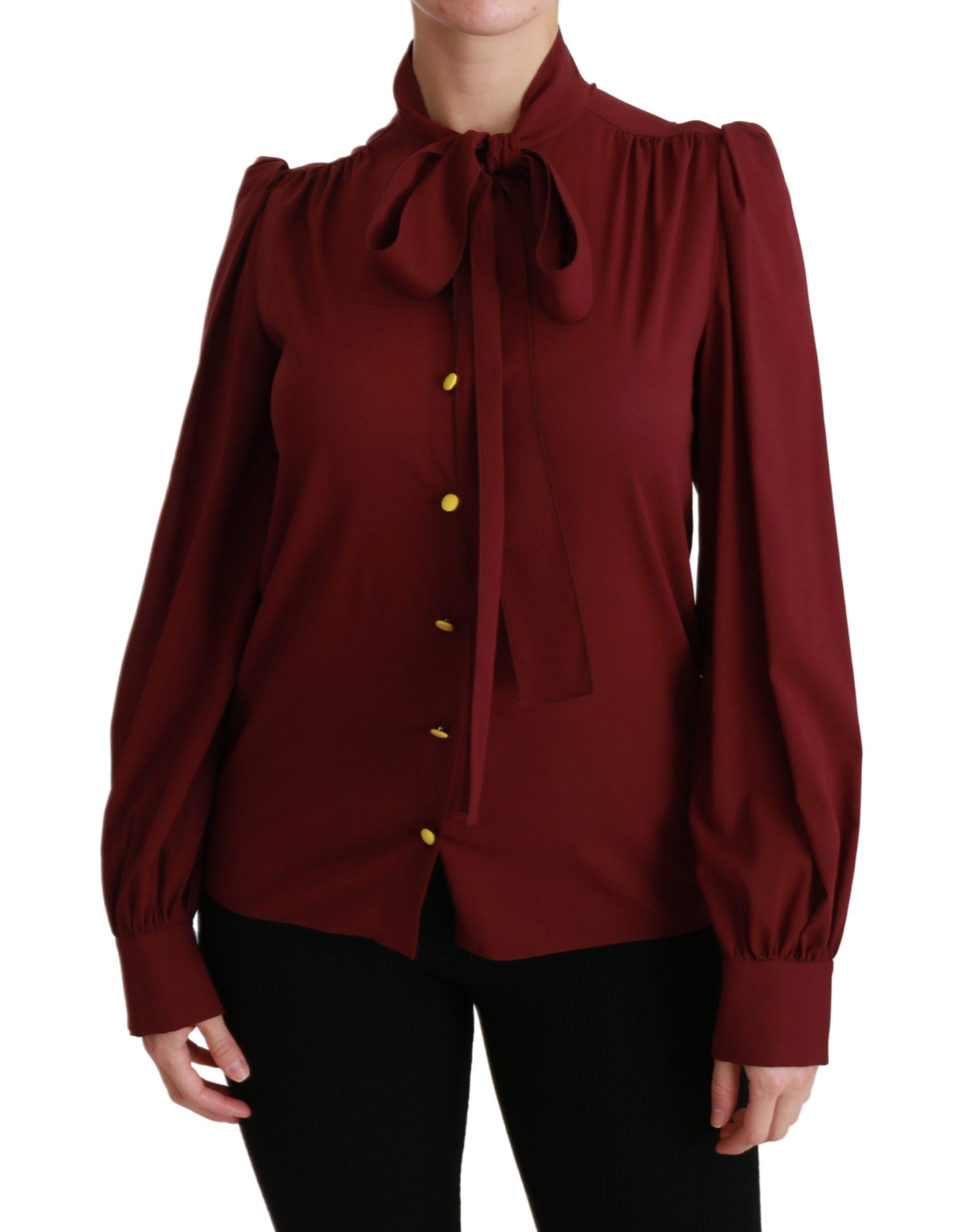 Dolce & Gabbana Women's LS Top Bordeaux TSH4470 - IT36 | XS