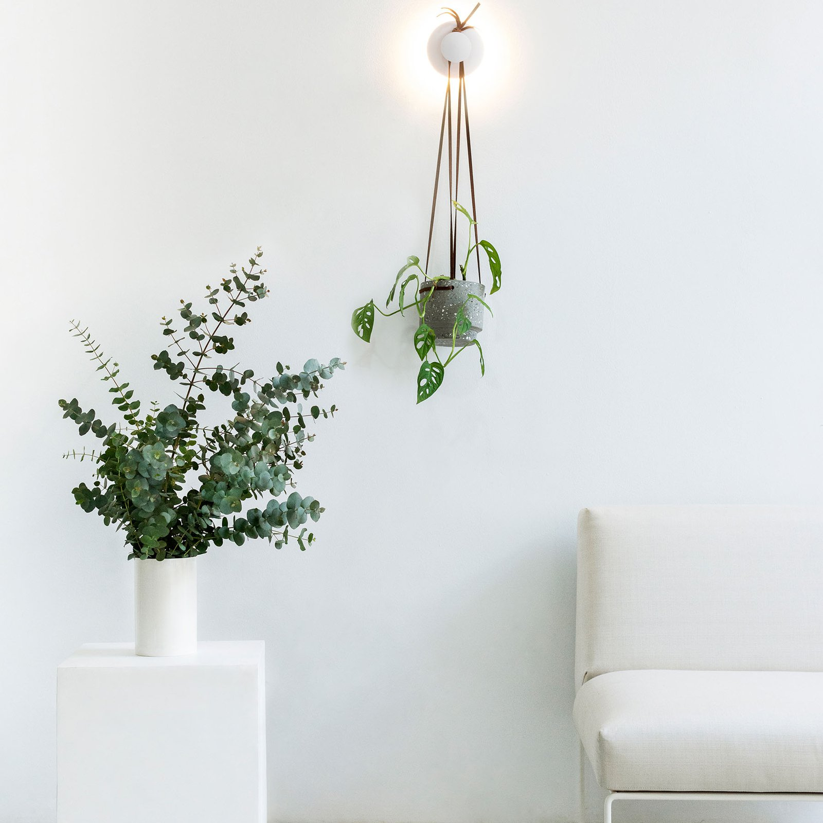 Polar LED-vegglampe hvit