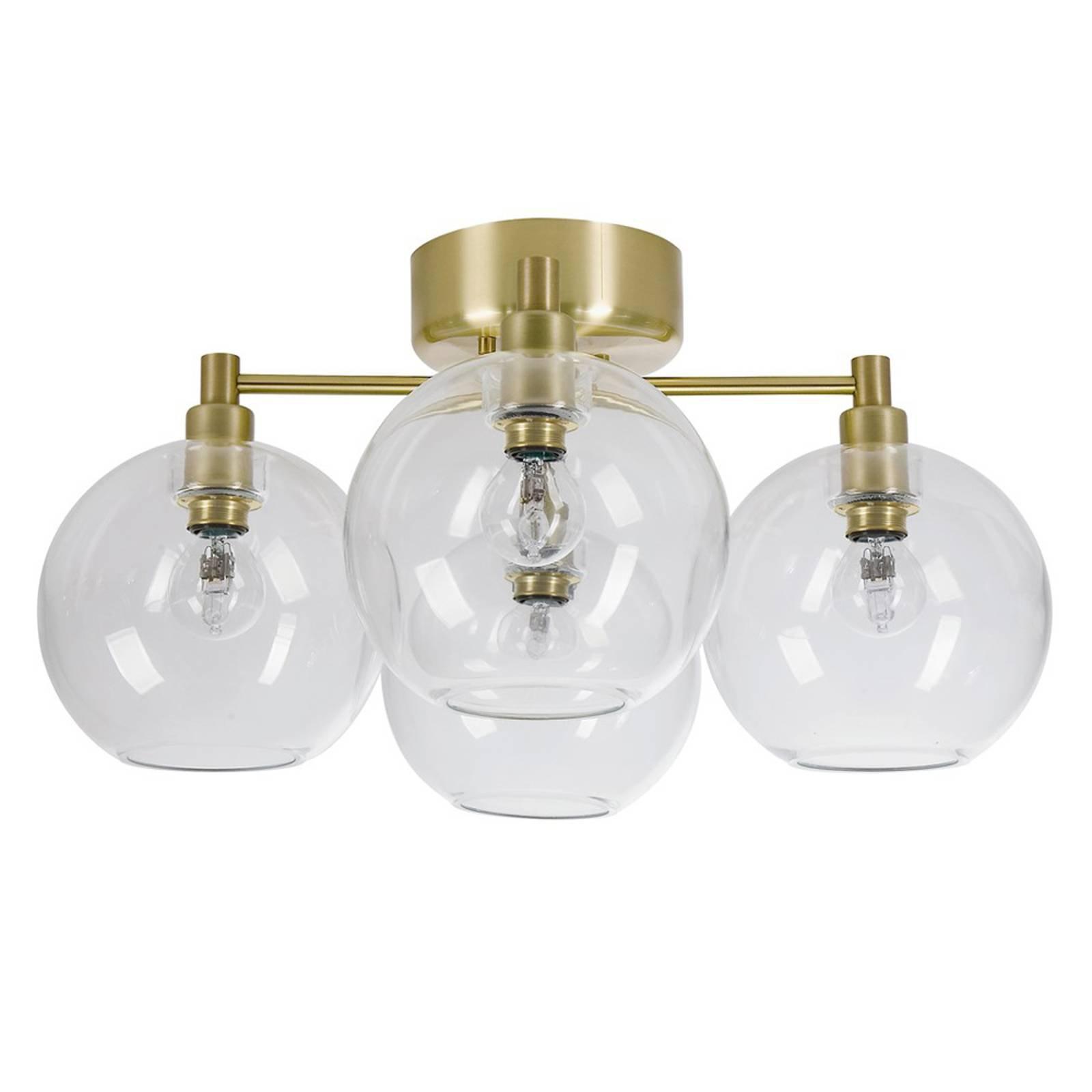 Taklampe i glass Gloria, fire lys