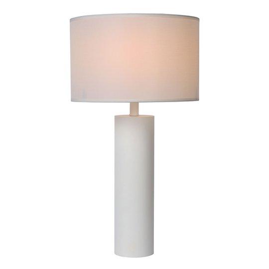 Yessin bordlampe, sylinderfot, hvit
