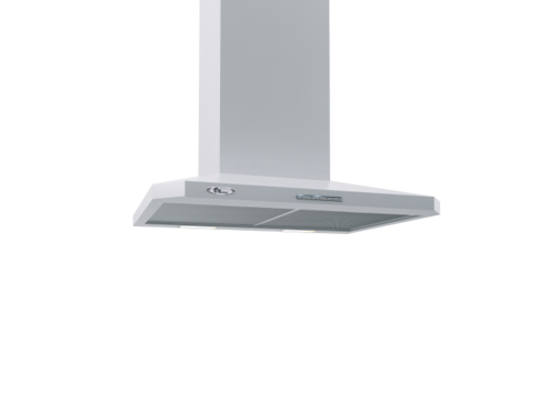 Decor 787 60cm Hvid - Led Vägghängd Köksfläkt Vit
