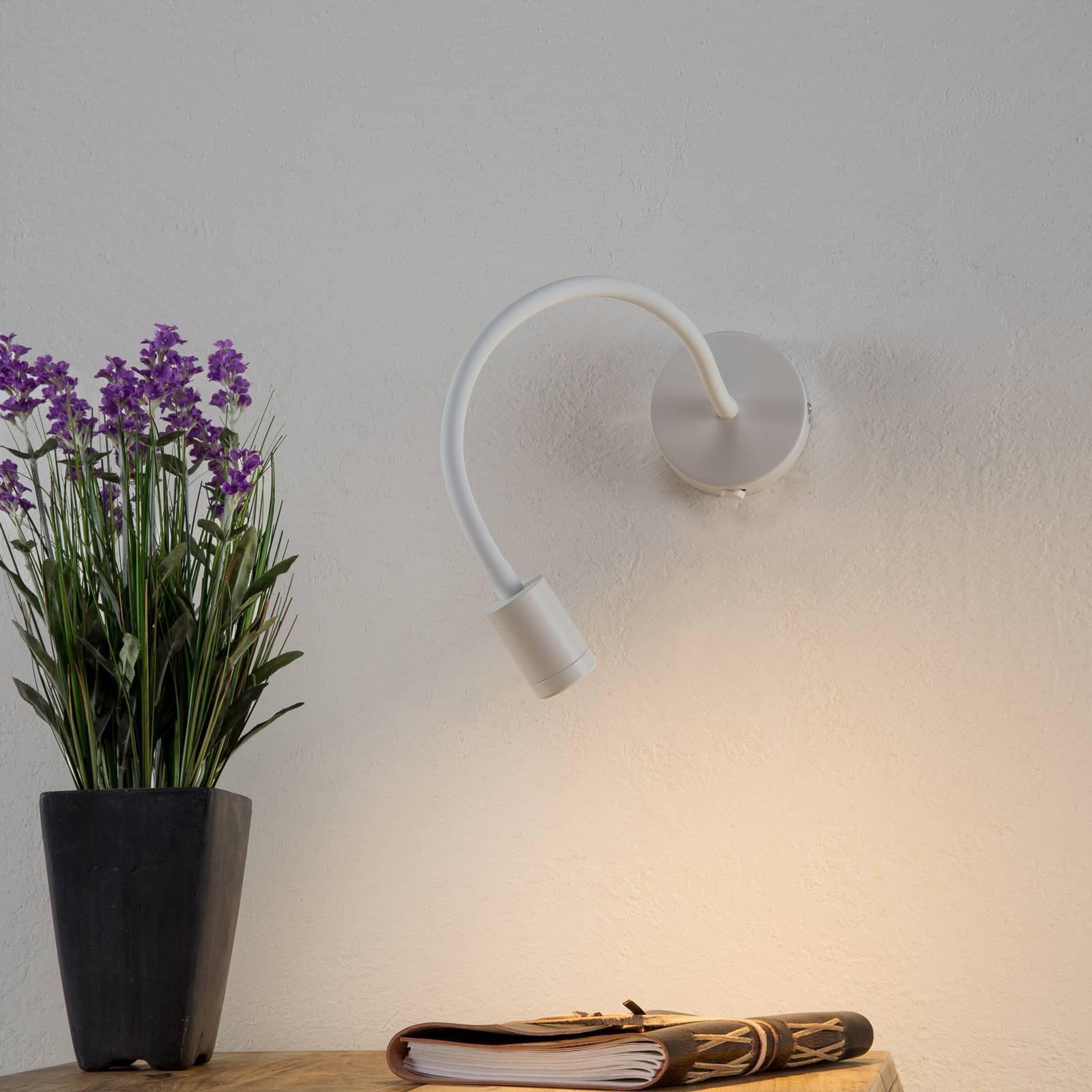 Fleksibel LED-vegglampe Focus, hvit