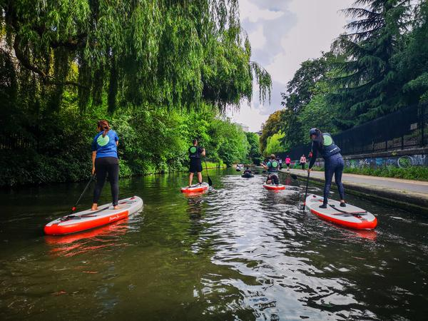 Learn to Paddle Board through London - Private - For Four