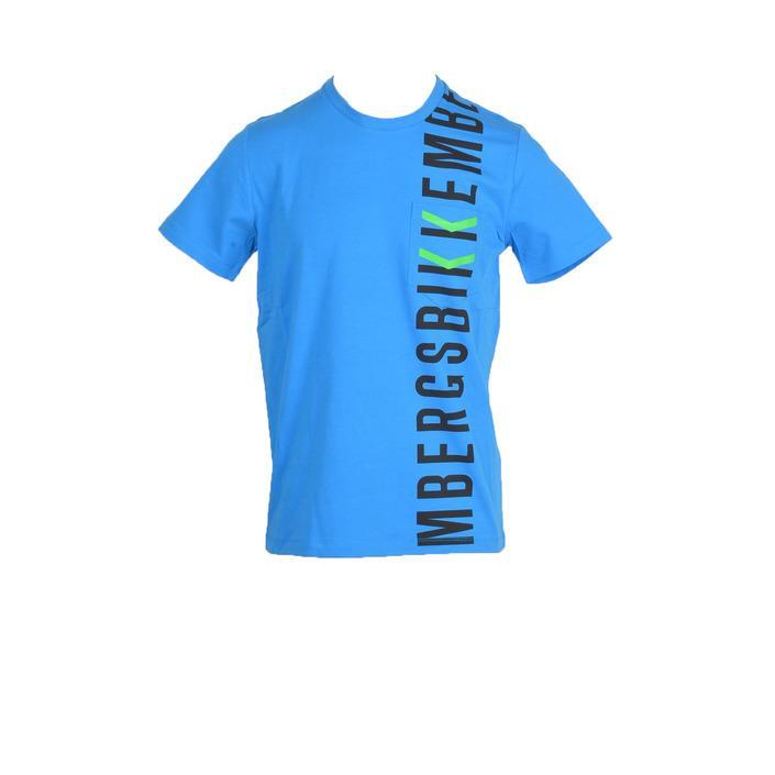 Bikkembergs Men's T-Shirt Light Blue 322465 - light blue M