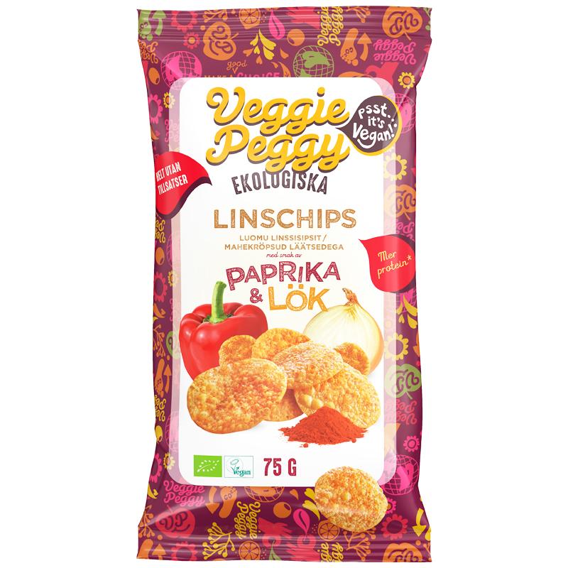 Eko Linschips Paprika & Lök - 24% rabatt