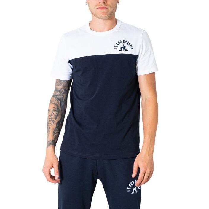 Le Coq Sportif Men's T-Shirt Blue 305005 - blue XL