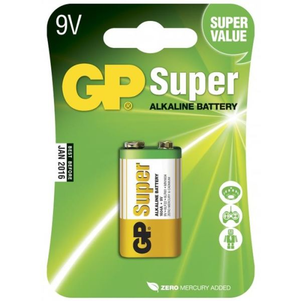 GP Batteries Super Alkaline 1604A-U1/6LF22 Alkalisk batteri 9 V