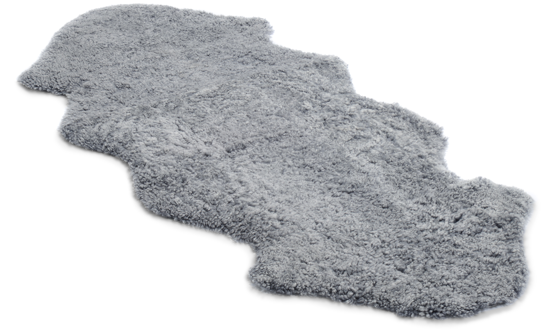 1,5 sammensydd krøllete saueskinn - 301527 sølvgrått