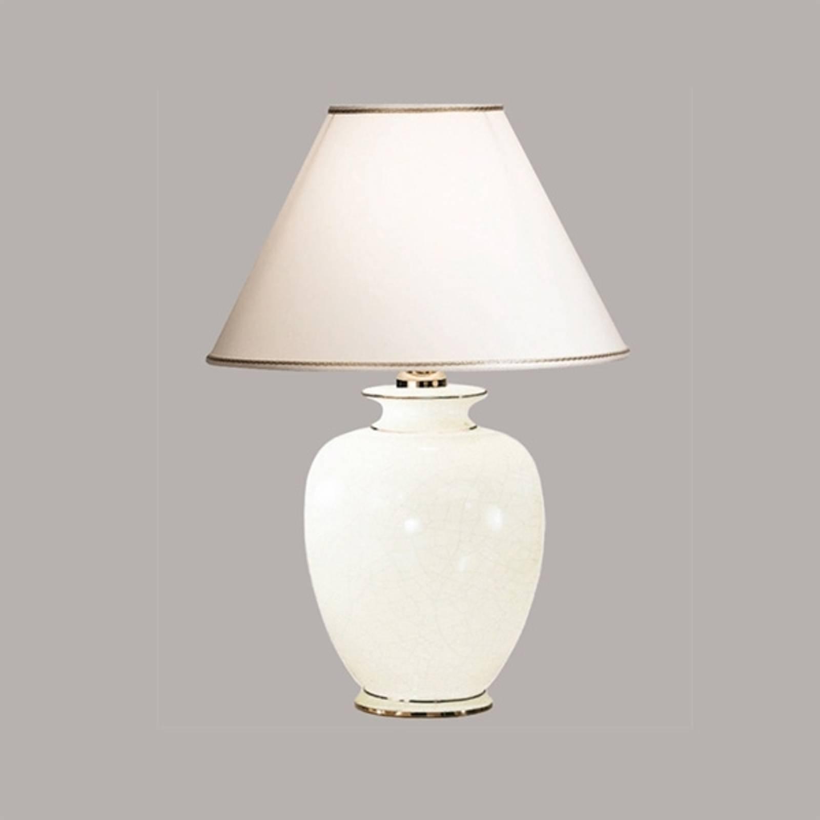 Hvit GIARDINO CRACLEE bordlampe på 40 cm