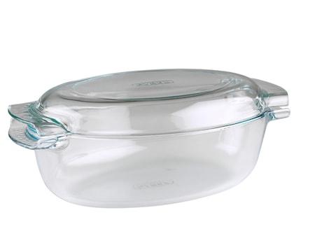 Stekgryta med Lock Glas 4,5L