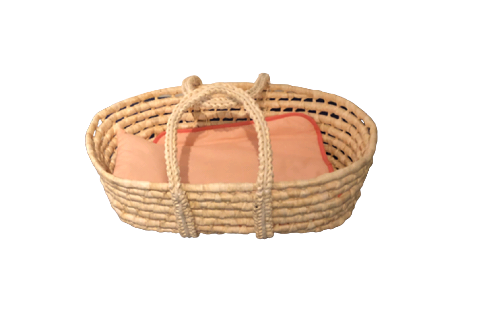 Happy Friend - Wicker Moses Basket (504318)