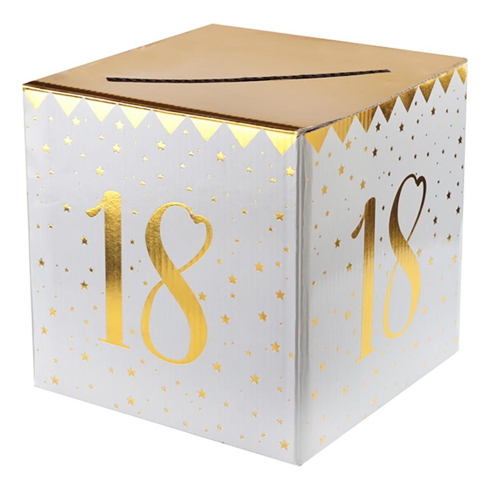 Presentbox Siffra med sedelfack Guld - Siffra 18