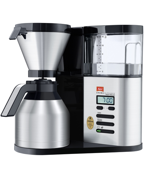 Melitta Aroma Elegance Deluxe Therm Kaffebryggare - Svart/silver