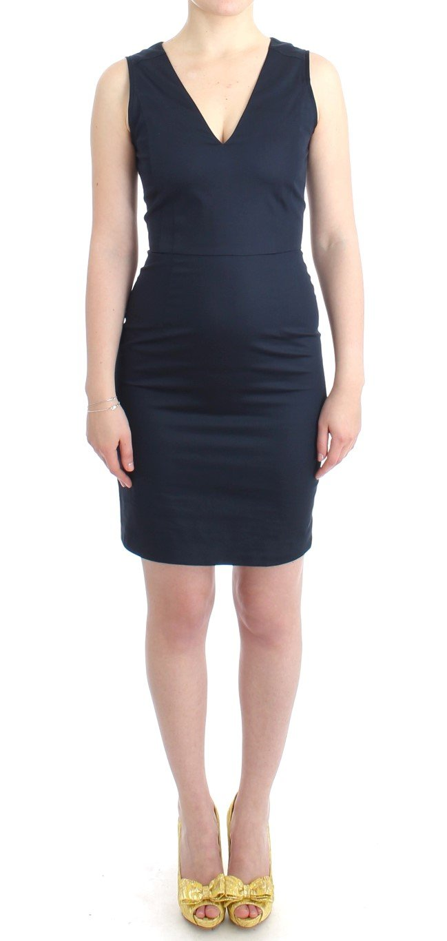 Costume National Women's Pencil Cotton Dress Blue SIG11646 - IT40|S