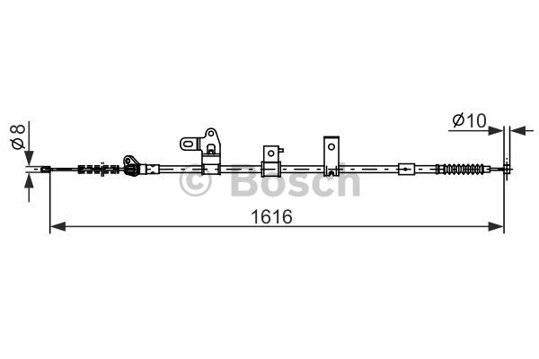 Cable, parking brake BOSCH 1 987 482 307