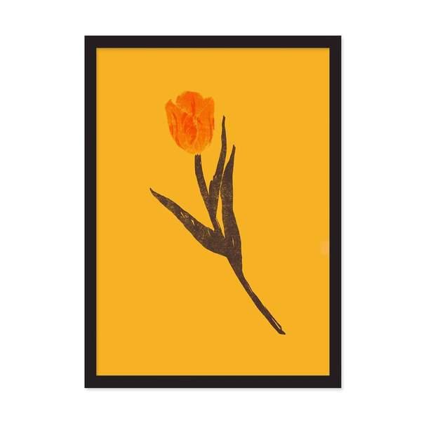 A4 Tulip Riso Print