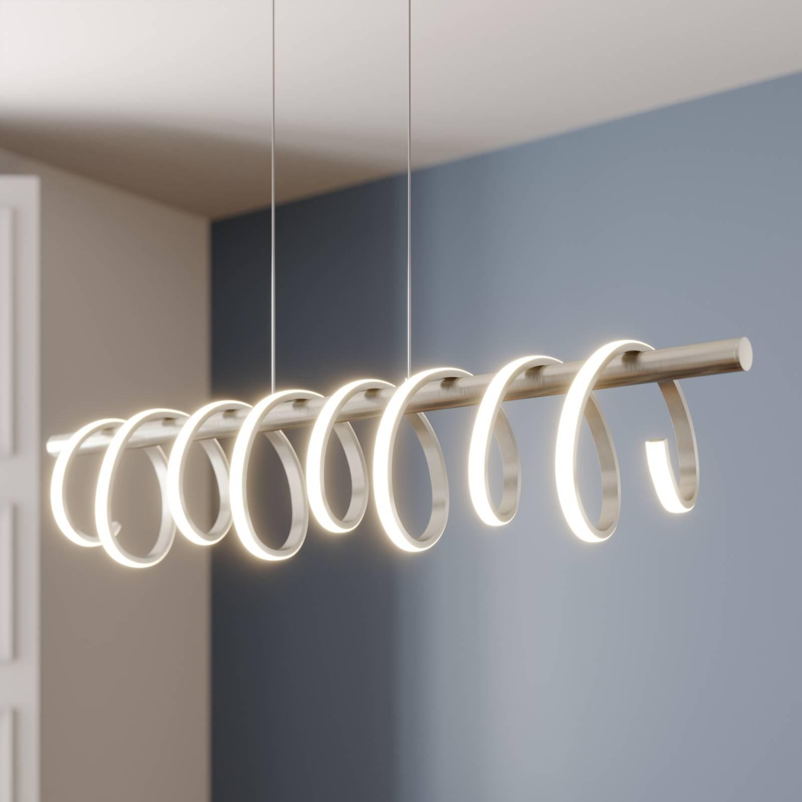 Lucande Milora -LED-riippuvalaisin, nikkeli
