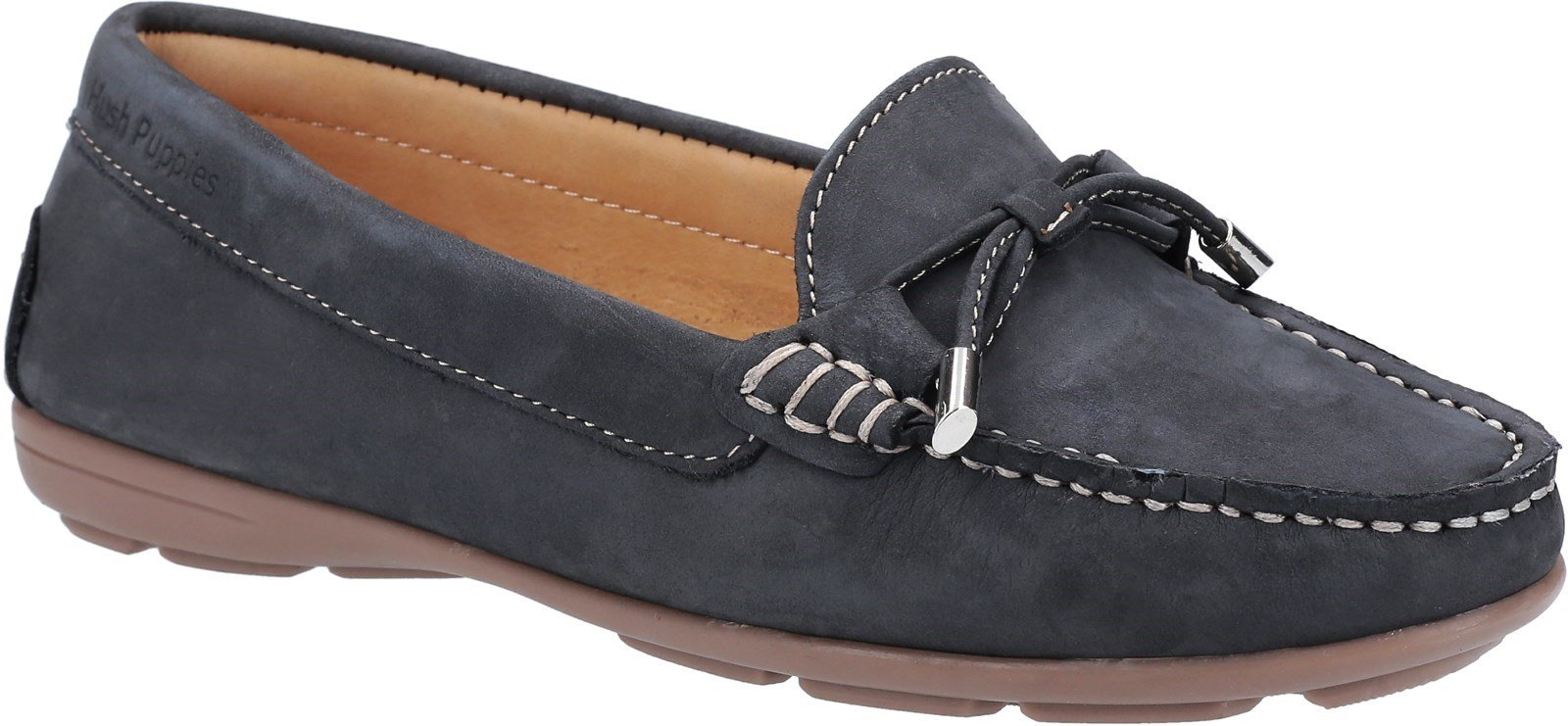 Hush Puppies Women's Maggie Slip On Loafer Shoe Various Colours 28405 - Navy 3