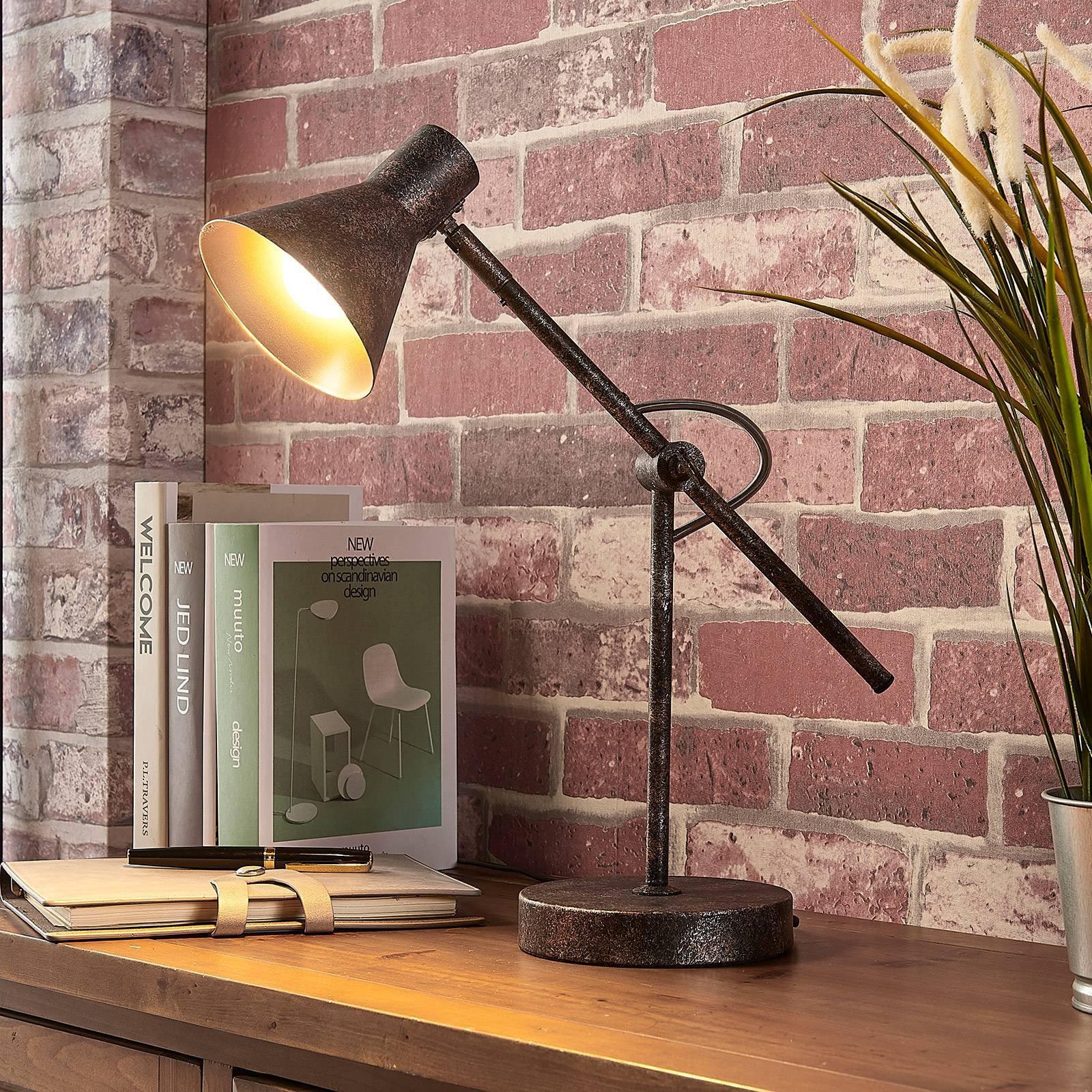 Rustfarget LED-taklampe Zera, Easydim