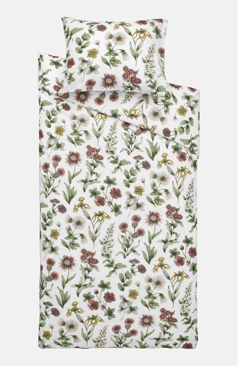 Iris kukkakuvioinen pussilakanasetti