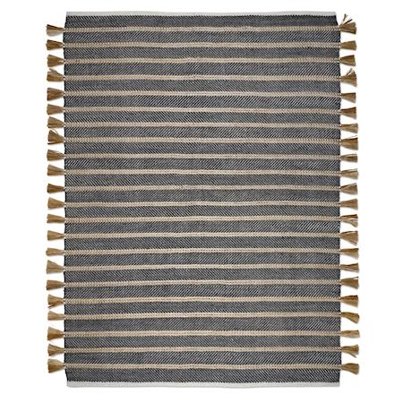 Cochin Teppe Svart/Jute 200x300 cm
