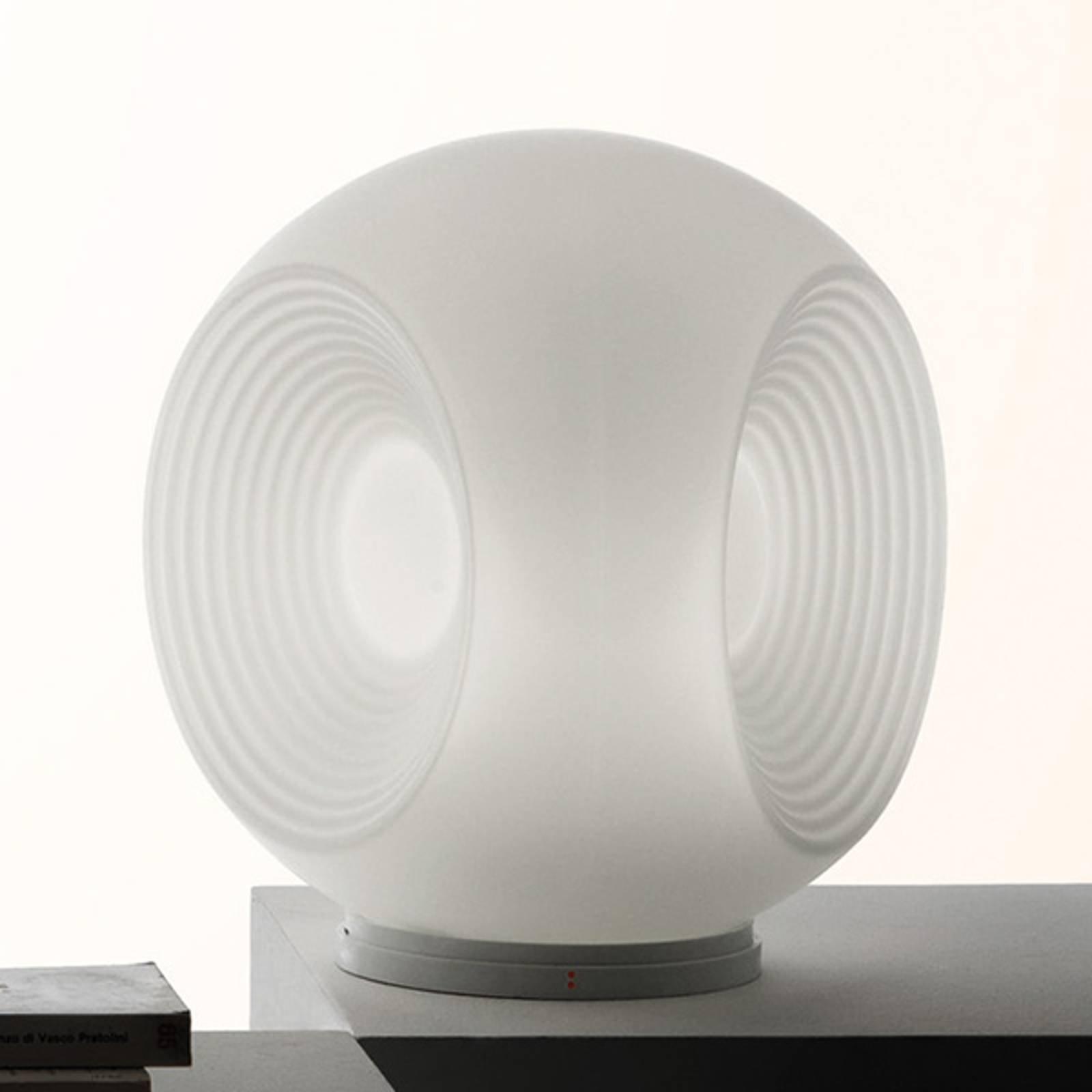 Fabbian Eyes - bordlampe av glass, hvit