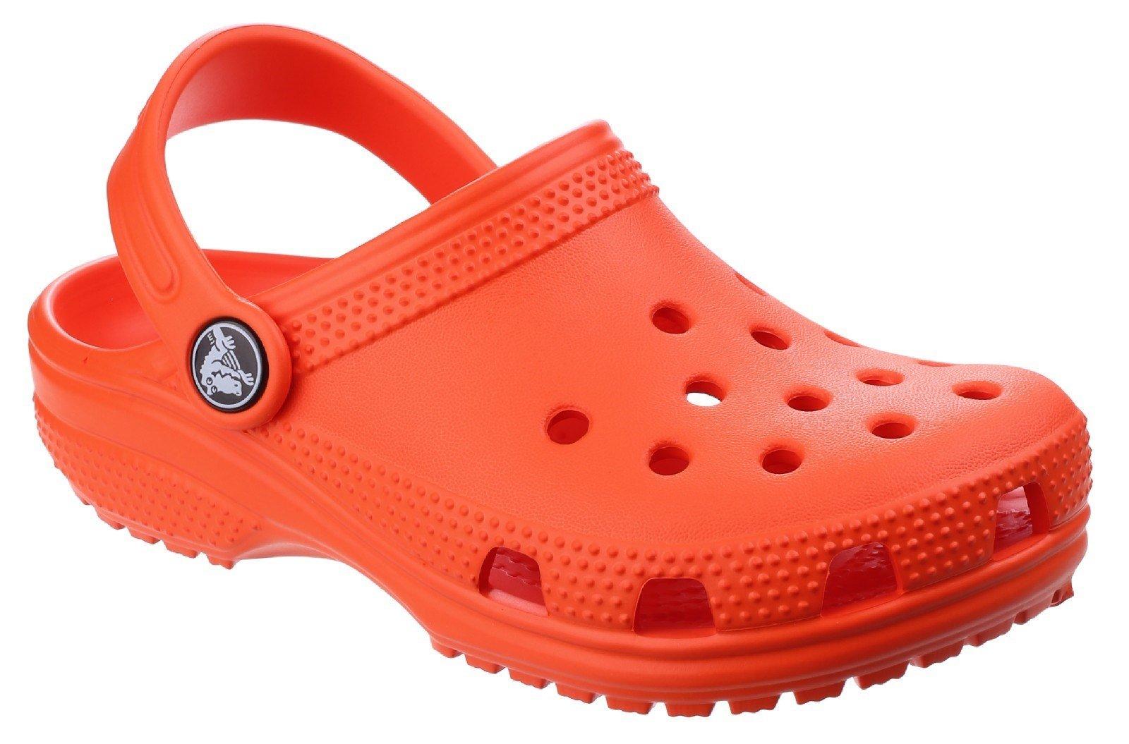 Crocs Kid's Classic Clog Slip On Sandal Various Colours 25239 - Tangerine 4 UK