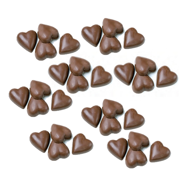 Chokladhjärtan Storpack - 2,4 kg