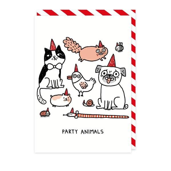Party Animals Birthday Greeting Card