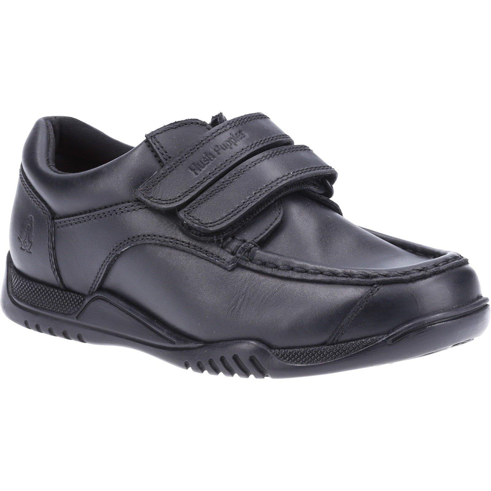 Hush Puppies Kid's Hayden Junior School Shoe Black 32584 - Black 10