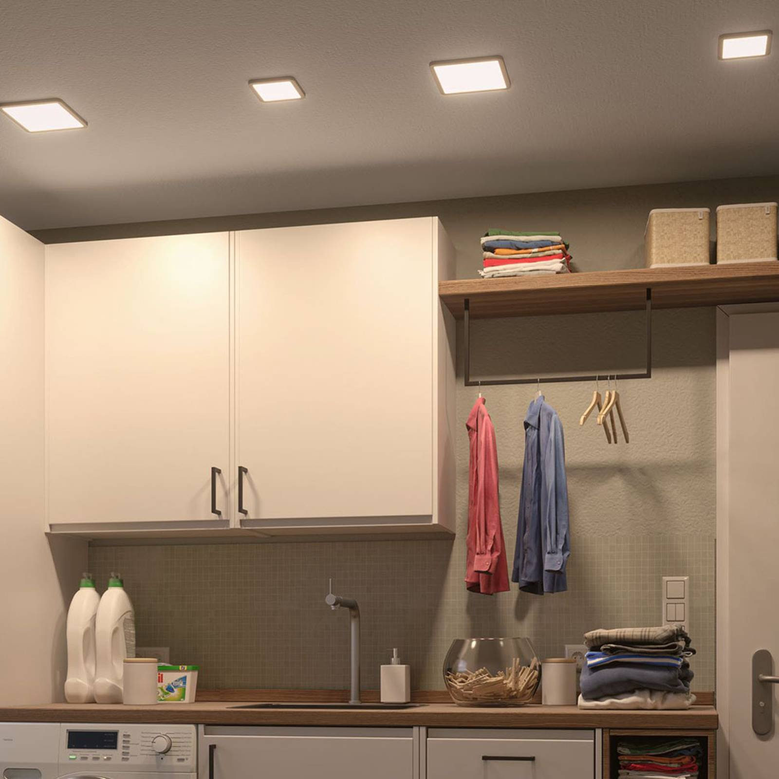 Paulmann LED-panel Areo 3 000 K kantet 17,5cm hvit