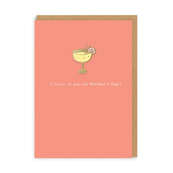 Cheers To You Mother's Day Enamel Pin Card