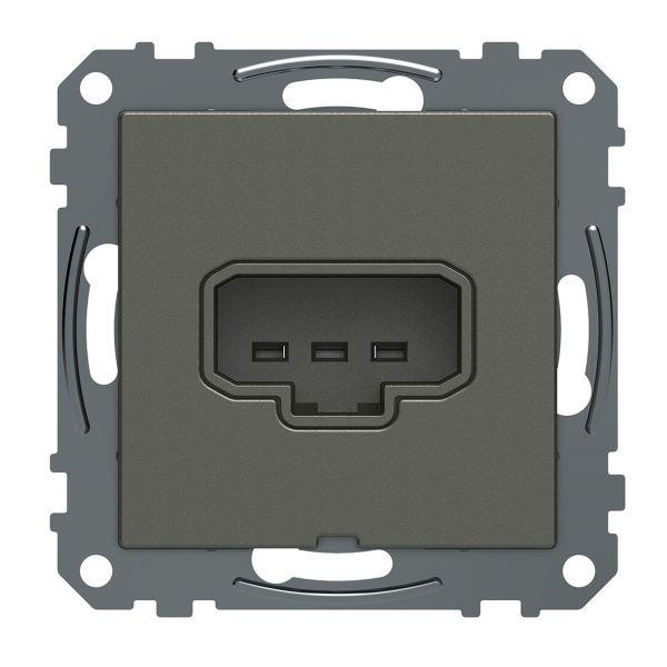 Schneider Electric Exxact WDE005011 Lampeuttak DCL, 1-veis, 2-polet, jordet, for boks