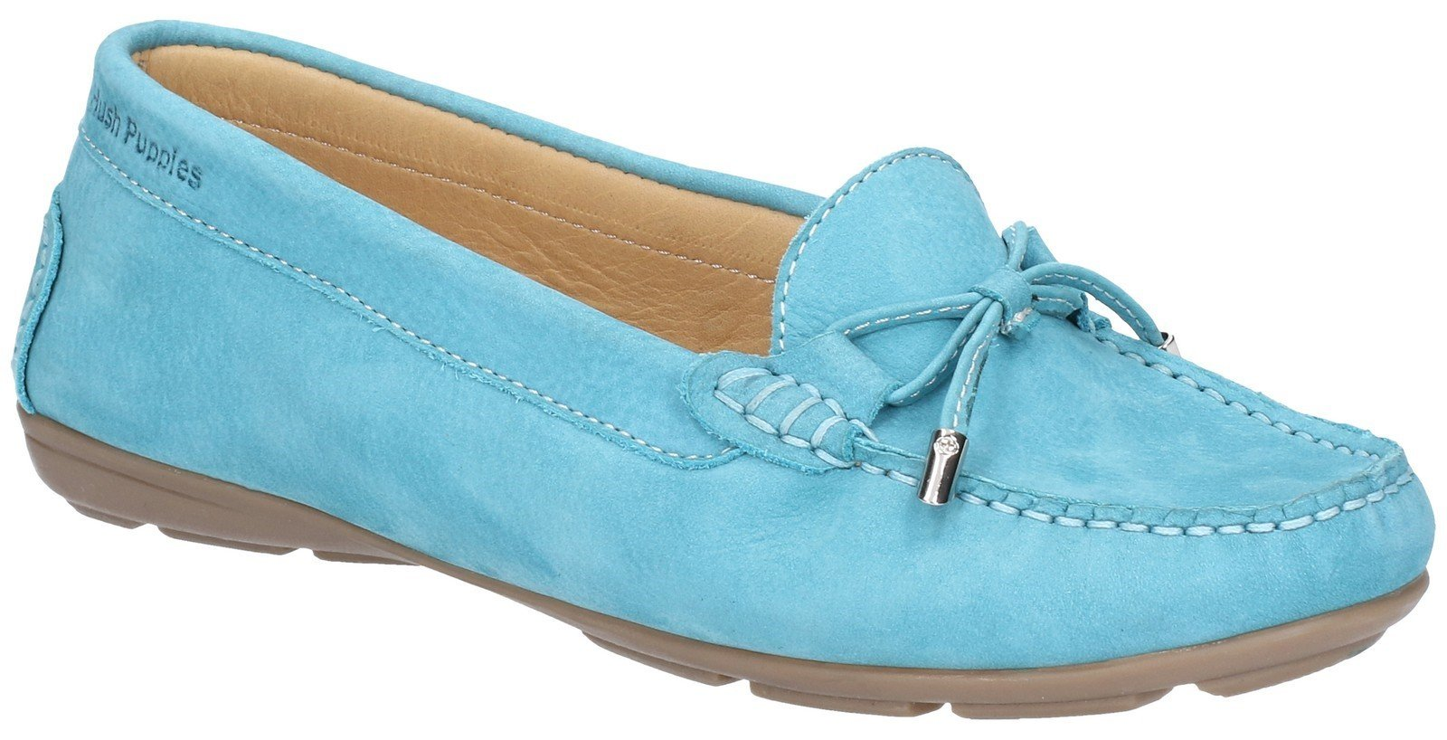 Hush Puppies Women's Maggie Slip On Loafer Shoe Various Colours 28405 - Sky Blue 3