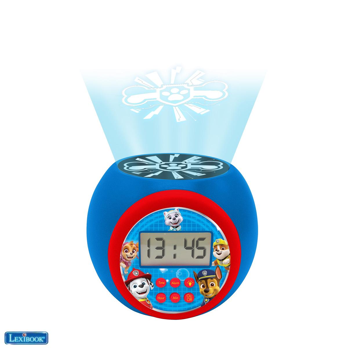 Lexibook - Paw Patrol Projector Alarm Clock with Timer (RL977PA)
