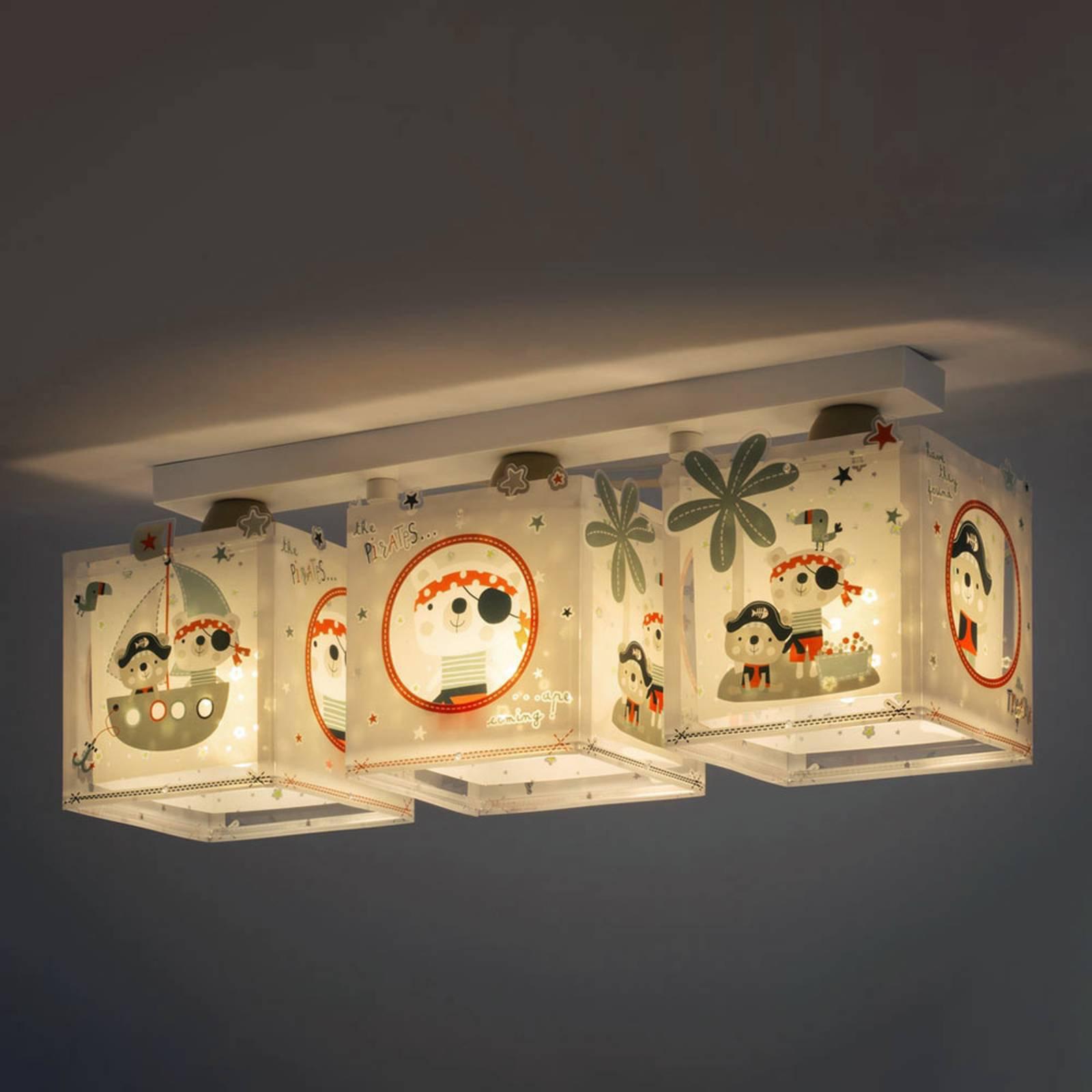 3 lyskilder taklampe Pirates til barnerommet