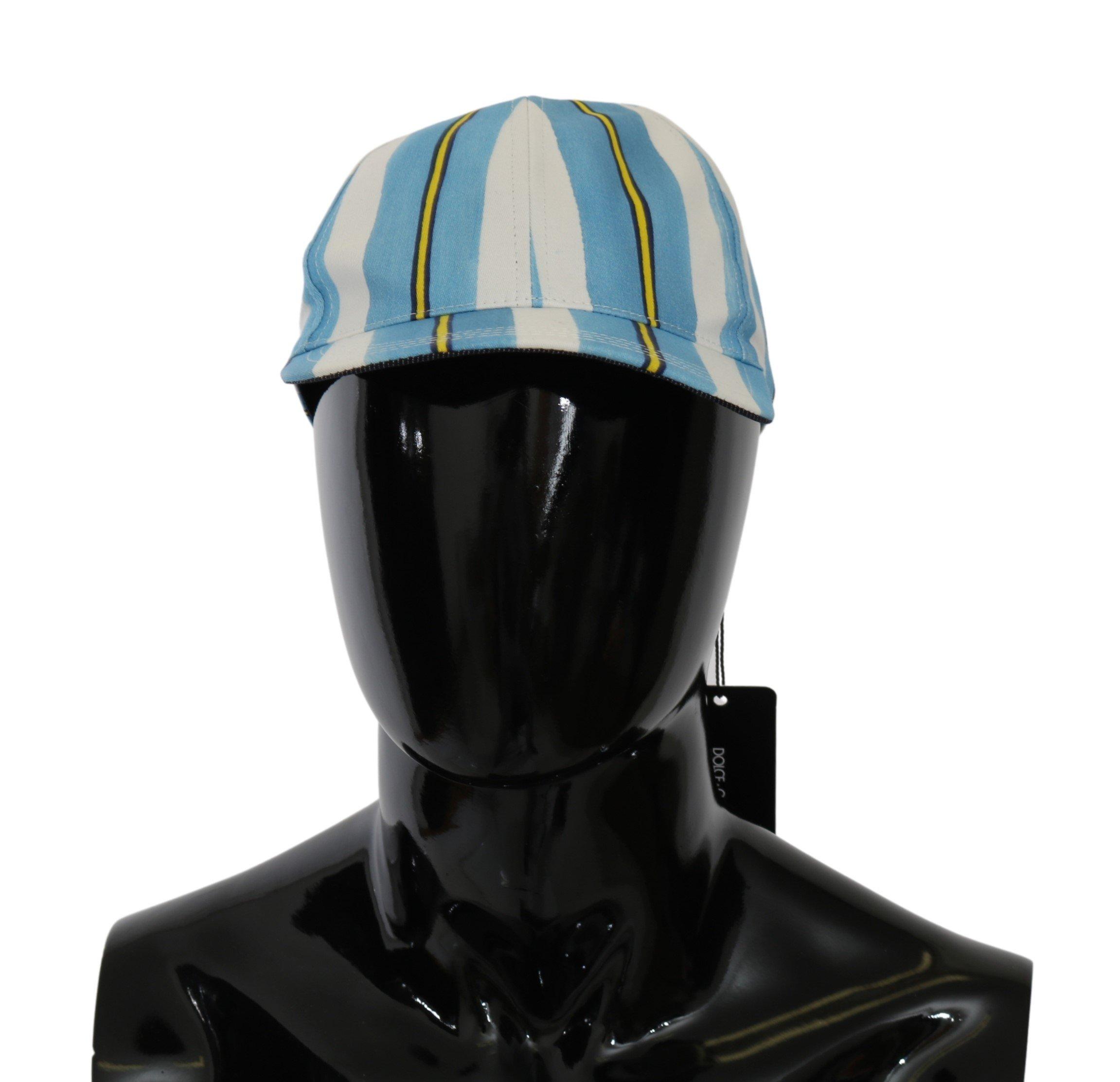 Dolce & Gabbana Men's Stripes Baseball Cotton Cap Multicolor HAT20054 - 57 cm S
