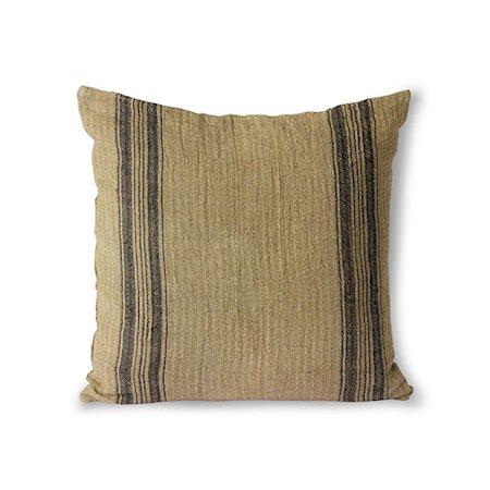 Linen Cushion Dark Beige 45x45 cm