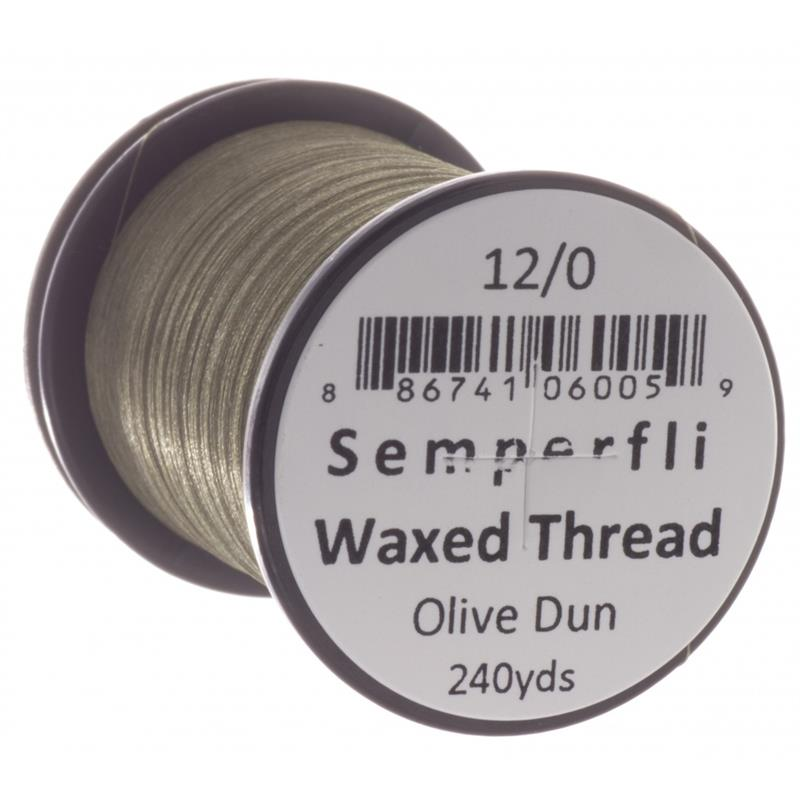 Semperfli Classic Waxed Thread Olive Dun 12/0