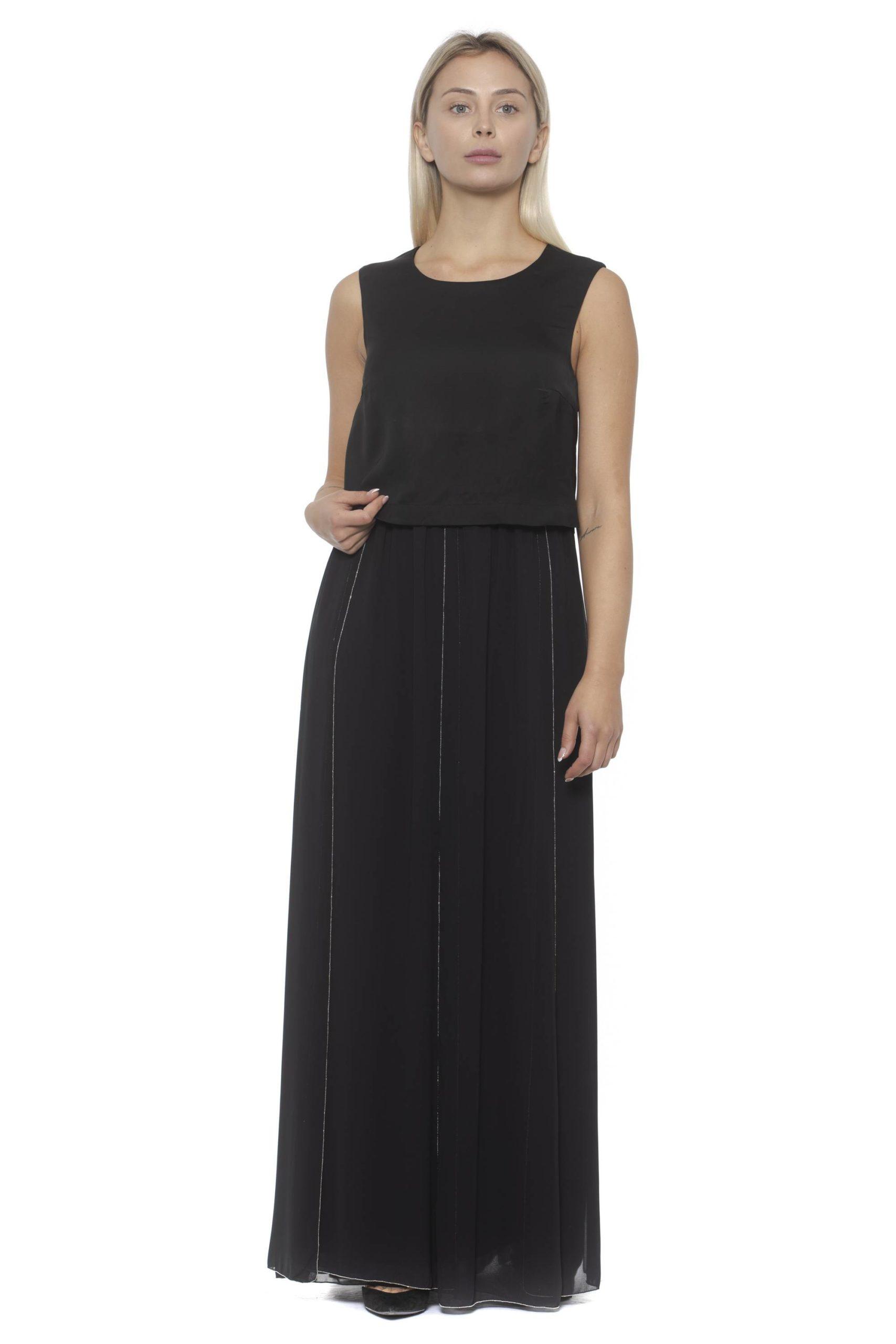 Peserico Women's Anero Dress Black PE1381857 - IT42 | S